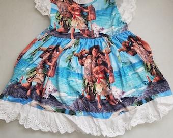 Girls' Moana Lace Dress