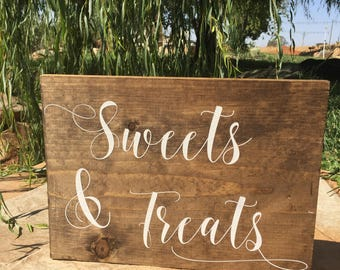 Sweets & Treats | Dessert Table Sign | Wedding Dessert Table