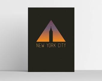 NYC Minimal Poster Print Modern Illustration Digital Art Home Decor Wall Art