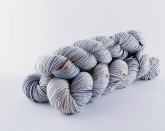 "Hand Dyed Yarn ""Alabaster"" Colorway"