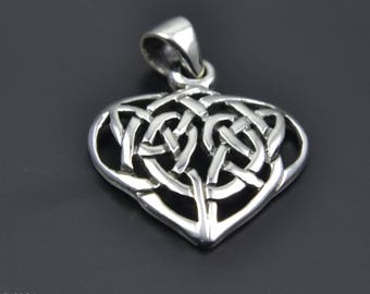 Celtic Design Sterling Silver Pendant with Celtic Knot