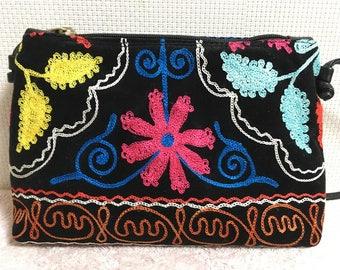 10% OFF FREE Shipping, Handmade Vintage Uzbek Suzani bag, Shoulder bag, Handbag, Suzanibag 5