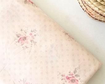 delicate floral pattern FLAT cotton sheet