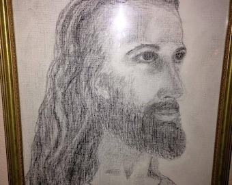 Jesus charcoal drawing