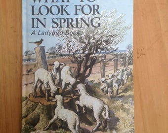 Vintage ladybird book What to look for in spring Matt cover 1960s