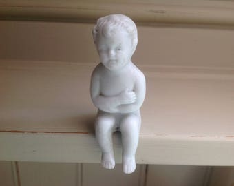 vintage Antique bisque sitting baby figure early 1900s