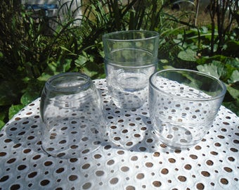 DURALEX glasses - Glasses French - canteens - 70's glasses - set of 4 glasses