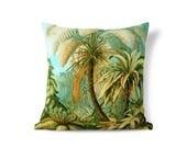 Ernst Haeckel Art Pillow - Victorian Pillow - Green Palm Pillow - Accent Pillow - Textured Pillows - Throw Pillow Cover - Decorative Pillow