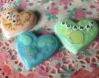Custom Resin Hearts
