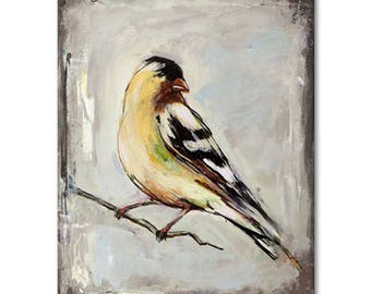 Oil Painting Hand-painted Bird Painting Artwork for Home Decor Scenery Paintings Wall Art on Canvas Framed Stretched Ready to Hang
