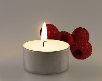 Raspberry Vegan Soy Handmade Scented Tealights