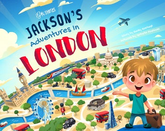 NEW Personalised Children's Book: softcover/hardcover iGoStories clever 'Adventures in London'