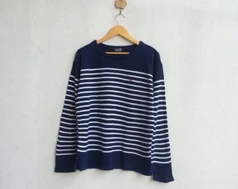 Vintage 90's Local Motion Stripe Knitwear Nice Design // Local Motion // Knitwear