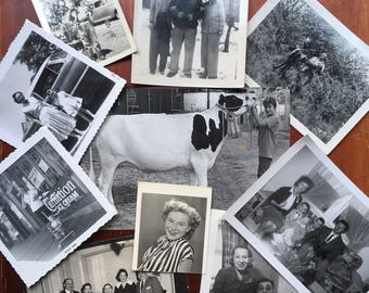 Assortment of 10 Vintage Found Black and White Photographs