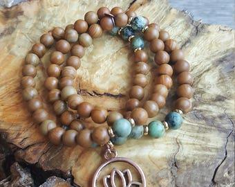 Natural woodgrain wrap bracelet