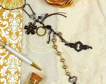 Lady Luck and The Gambler Steampunk Charm - Lucky Charms - Planner Charm - Victorian Jewelry - Book Charms - Junk Journal Charms - EA