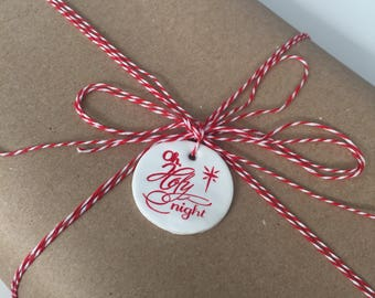 Oh Holy Night holiday gift tag/tree ornament