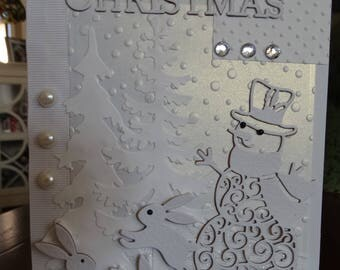 All White Winter Christmas Card