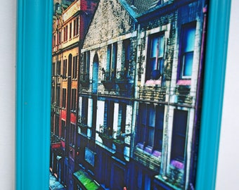 Original Framed Abstract Art Photo - Liverpool Streets