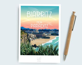 Biarritz postcard