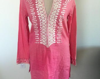 Authentic Sachin + Babi Blouse//Hand Embroidered Sachin + Babi// Neiman Marcus Sachin + Babi Tunic