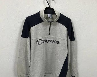 20% Sale Vintage Champion Product Big Logo Embroidery Sweatshirt