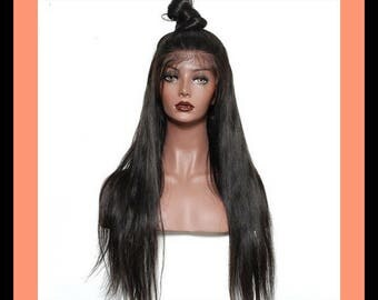 Straight Brazilian Lace Front Human Hair Wig