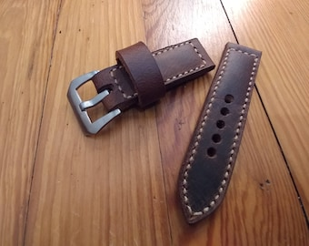 Crazy Horse Leather Watch Strap