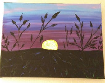 Painting - Grain in Sunset