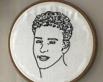 Justin Timberlake NSYNC embroidery hoop