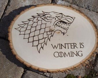 Game of Thrones Wood burned Plaque