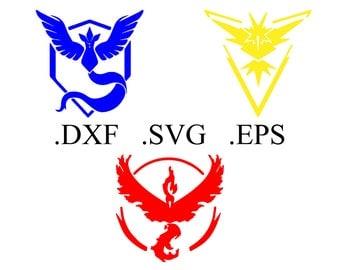 Pokemon Go Team Logo Vector Cut File (DXF, SVG, EPS)