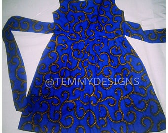 Girl ankara dress, girl dress, Girl clothing, African dress, Ankara dress, Blue