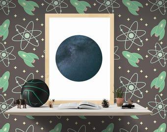Sky Print, Night Sky Art Print, Starry Night, Stars Printable, Modern Art, Starry Night Print Art, Digital Prints, Instant Download