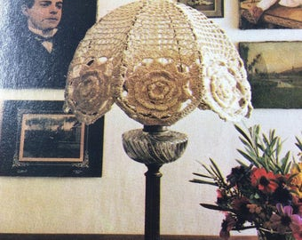 Vintage pattern PDF file crochet Lampshade