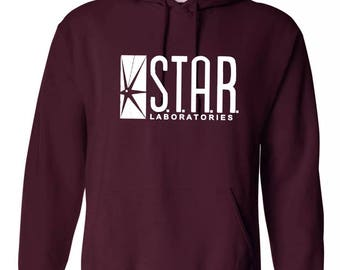 STAR Laboratories Hoodie pullover jumper Unisex The Flash S.T.A.R. Labs