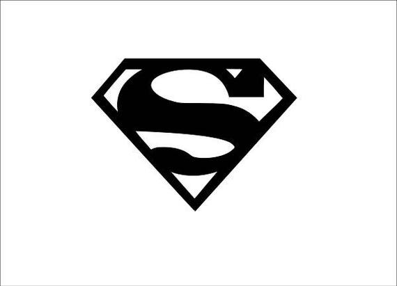 Superman logo sticker outline / Decal / Window decal