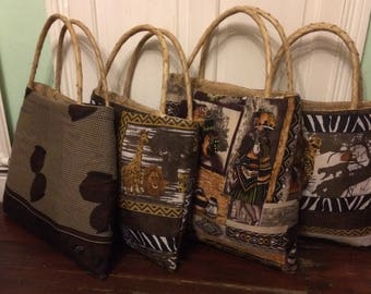 Large fabric covered baskets