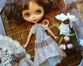 Blythe dress vintage style polka-dot dress