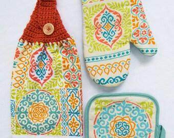 Summer Medallion Kitchen Towel - Crochet Top