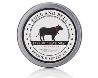 Bull and Bell Premium Supply Co. Tallow Shaving Soap