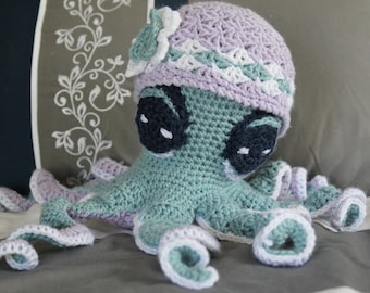 Crochet Stuffed Octopus Toy
