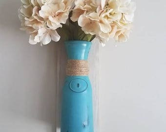 Distressed Wall Hanging Vase