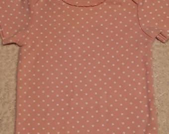 Pink with Spots Puppy Shirt (Size 2P)