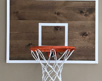Basketball Hoop - Basketball Hoop for Wall - Basketball Hoop and Backboard - Gifts for Kids - Basketball Goal - Basketball - Sports