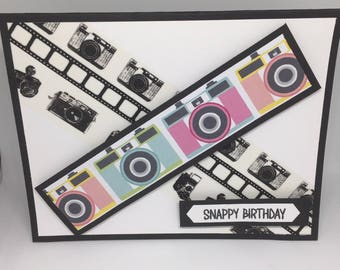 Handmade / Hand Stamped Birthday Card / Photography / Photographer / Snappy Birthday / Happy Birthday