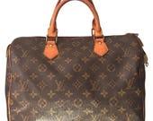Louis Vuitton Speedy 30, Lock & Key, and Dust Bag