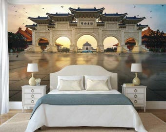 Wall Mural Peel And Stick, Taiwan Wall Mural, 3D Wallpaper, Wall decal Taiwan, Self Adhesive Vinyl
