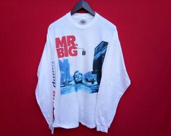 vintage Mr Big bump ahead music concert t shirt