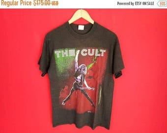 vintage The Cult  heavy metal rock music concert t shirt